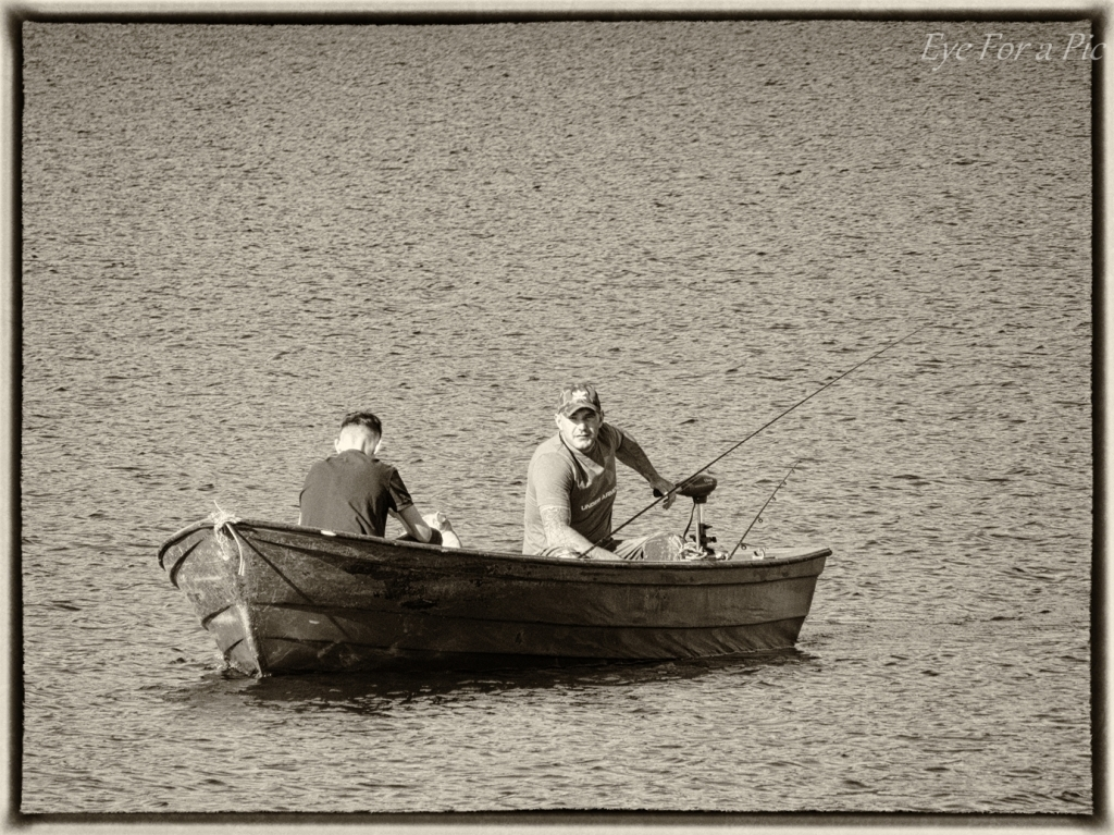 Father and son fishing in the Lomond Hills